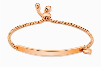 ROSE GOLD CURVE SLIDER BRACELET