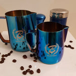 Barista Space Collection 1.0 - Milk Jug Pitchers - Metallic Blue-Latte Pitcher-Coffee Bean Comrades