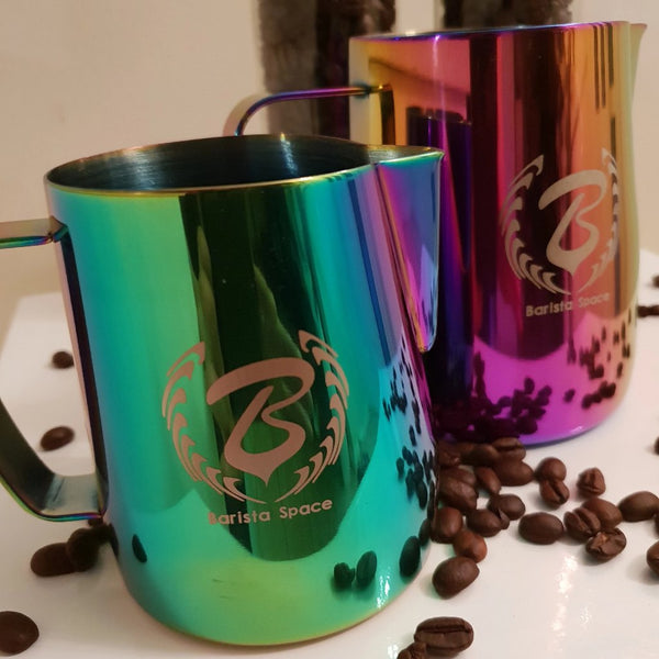 Barista Space Collection 1.0 - Milk Jug Pitchers - Multicolour-Latte Pitcher-Coffee Bean Comrades