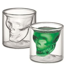 Set of 2 Skull Latte Glass - 150ml-Glassware-Coffee Bean Comrades