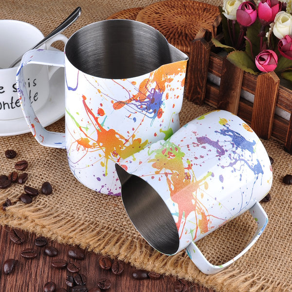 Splash Pattern Coffee Milk Pitcher - Barista Space Collection 1.0 Plus-Latte Pitcher-Coffee Bean Comrades