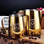 Barista Space Collection 1.0 - Milk Jug Pitchers - Gold-Latte Pitcher-Coffee Bean Comrades
