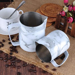 Marble Pattern Coffee Milk Pitcher - Barista Space Collection 1.0 Plus-Latte Pitcher-Coffee Bean Comrades