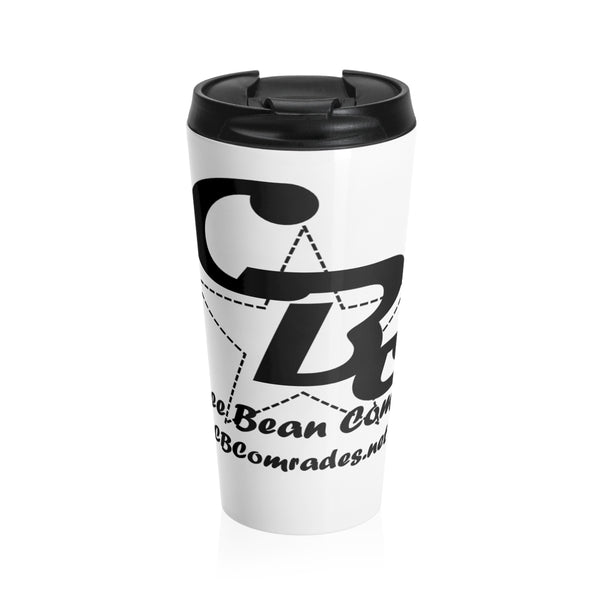 Coffee Bean Comrades Stainless Steel Travel Mug - White-Mug-Coffee Bean Comrades