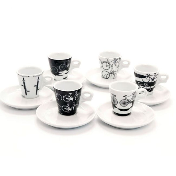 Italia In Bici Espresso Coffee Cup Series - Set of 6-Cups-Coffee Bean Comrades