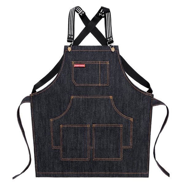 Denim Barista Apron-Barista Uniform-Coffee Bean Comrades