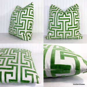 One or Both Sides - ONE Thibaut Ming Trail Pillow Cover with Knife Edge or with Tassels