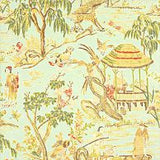 One or Both Sides - ONE Thibaut Fishing Village Pillow Cover with Self Cording