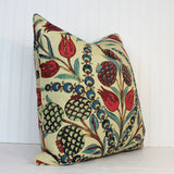 Both or One Side - ONE Thibaut Corneila Pillow Cover with Self Cording