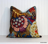 One or Both Sides - ONE Schumacher Zanzibar Pillow Cover with Self Cording