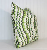 One or Both Sides - ONE Thibaut Ebru Embroidery Pillow Cover with Self Cording or Knife-Edge