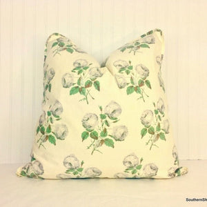 Cowtan & Tout Bowood Union Green/Grey - Cotton Chintz or Linen/Cotton