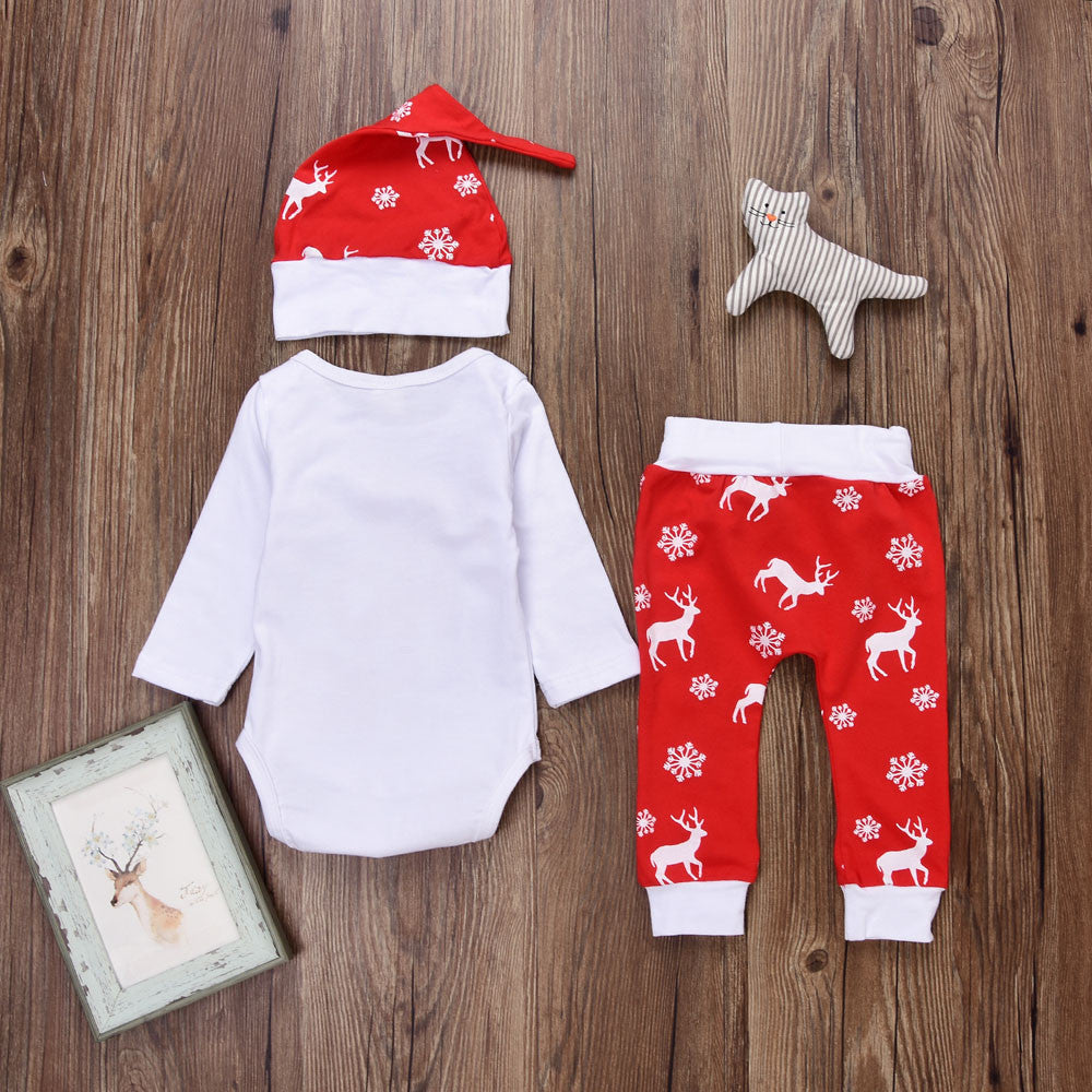 Toddler Christmas Outfit.Ho Ho Ho Baby Toddler Christmas Outfit