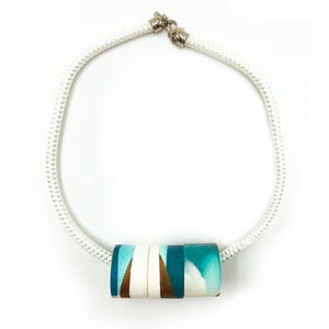 Clara 3 Necklace - Turquoise, Bronze and White