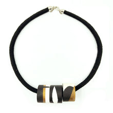 Clara 3 Necklace - Black, Bronze and White