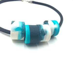 Clara 4 Necklace - Turquoise and  White