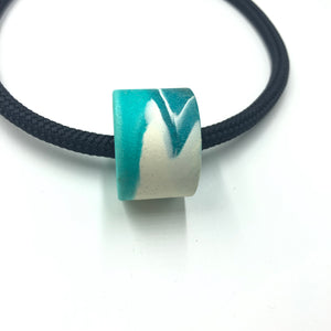 Clara 1 Necklace - Turquoise and  White