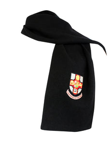 Crested Scarf - Black