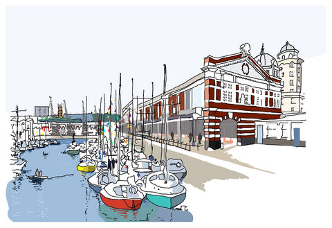 Alice Rolfe Greetings Card - Harbourside