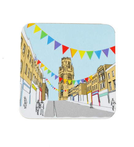 Alice Rolfe Coaster - Colourful Park Street