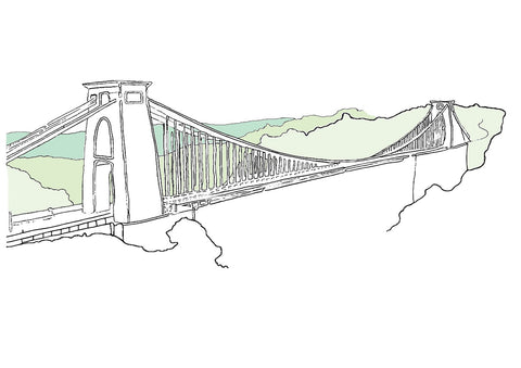 Alice Rolfe Greetings Card - Suspension Bridge