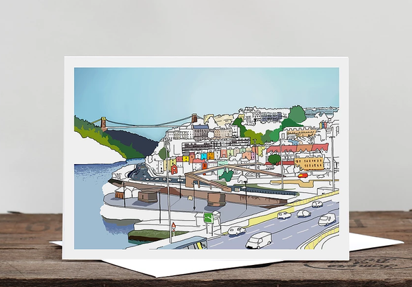 Alice Rolfe Greetings Card - Bristol Views