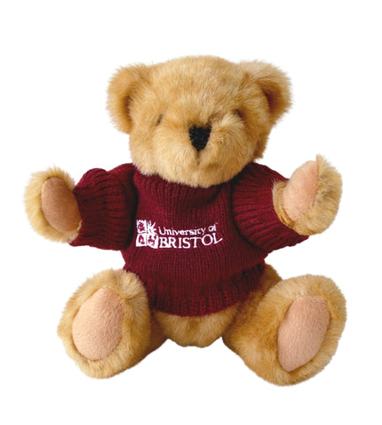 Buster Bear in Burgundy Sweater