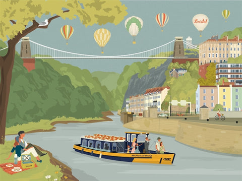 Clare Phillips Greetings Card - Avon Gorge