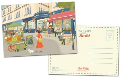Clare Phillips Postcard - Clifton Village