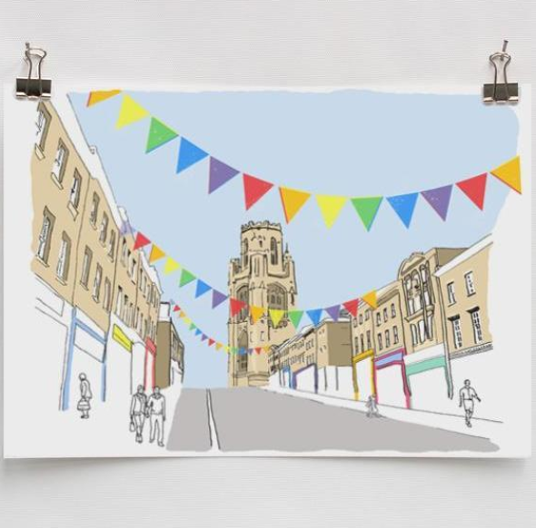 Alice Rolfe Greetings Card - Park Street