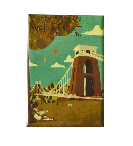 Emy Lou Holmes Fridge Magnet - Clifton Suspension Bridge View