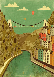 Emy Lou Holmes Greetings Card - Clifton Suspension Bridge