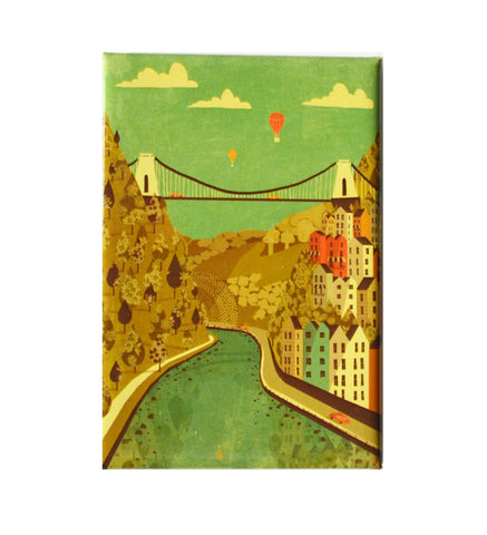 Emy Lou Holmes Fridge Magnet - Clifton Suspension Bridge