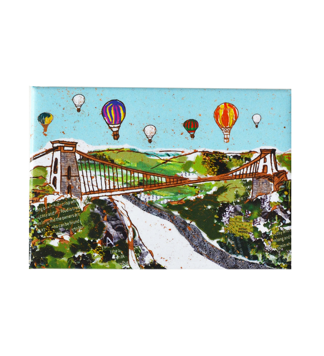 Emmeline Simpson Fridge Magnet - Balloons Over the Bridge