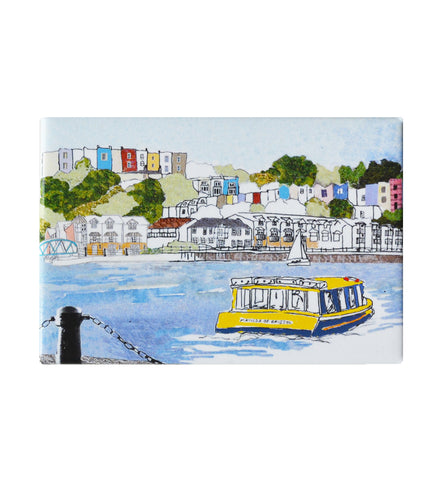 Emmeline Simpson Fridge Magnet - Harbourside View