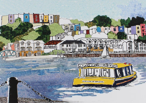 Emmeline Simpson Greetings Card - Harbourside View