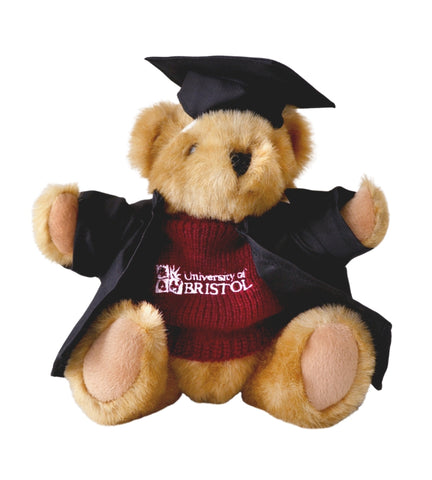 Graduation Buster Bear in Burgundy Sweater