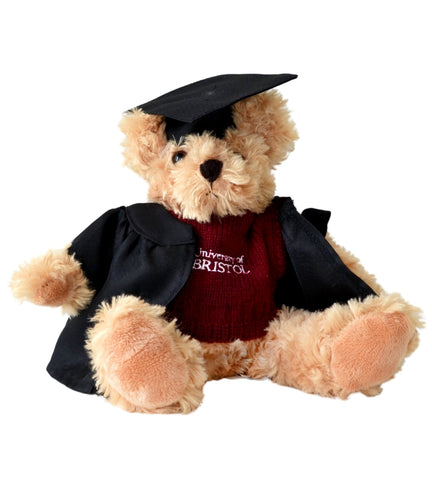 Graduation Fudge Bear in Burgundy Sweater