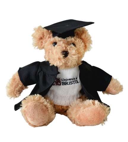 Graduation Fudge Bear in White Sweater