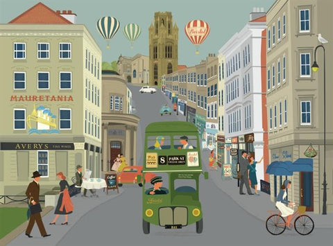 Clare Phillips Greetings Card - Park Street