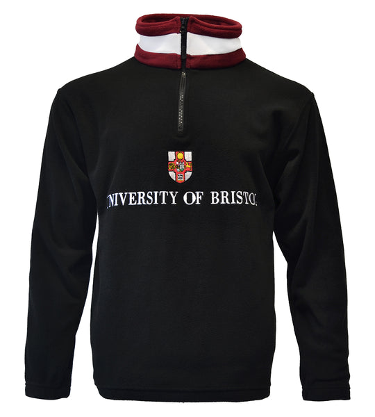 1/4 zip University of Bristol Fleece - Black