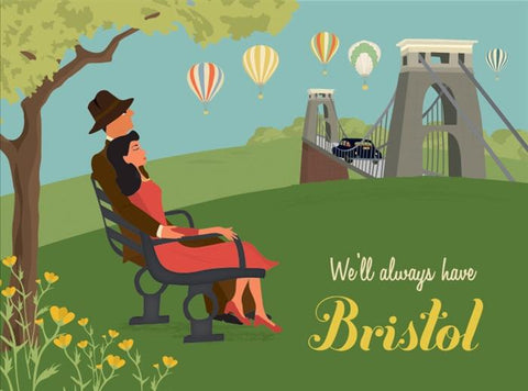 Clare Phillips Greetings Card - Bristol Suspension Bridge (Sitting)