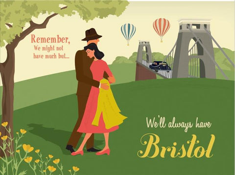Clare Phillips Greetings Card - Bristol Suspension Bridge (Standing)