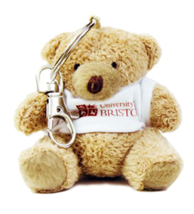 Teddy Bear Keyring in UoB T-Shirt