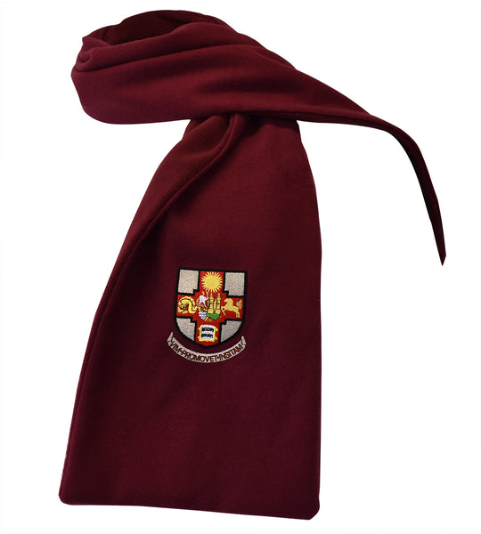 Crested Scarf - Maroon