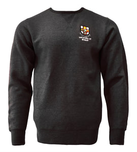 Crested sweatshirt - Black Melange