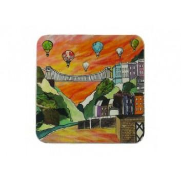 Emmeline Simpson Coaster - Clifton Balloons Sunset