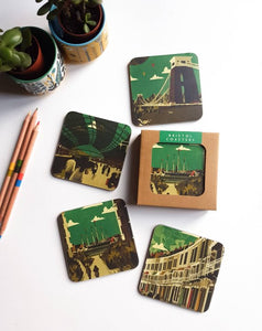 Emy Lou Holmes Bristol Coasters - (Green set of 4)