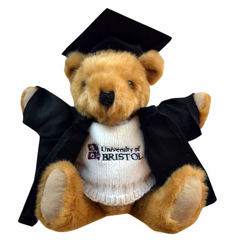 Graduation Buster Bear in White Sweater