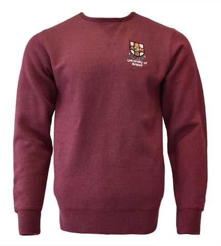Crested sweatshirt - Wine Melange